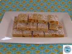 A traditional Australian sweet: Apricot slice. Recipe requires no baking, so good for cooking with kids or on a hot day.