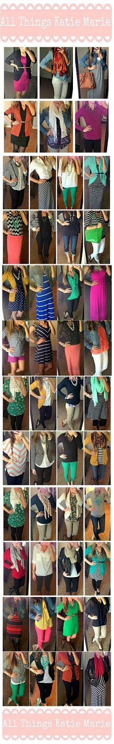 6monthsresize2.jpg 247×1,600 pixels outfits, closet wardrob, teacher fashion, closets, minim closet, cloth ador, outfit inspir, work attire