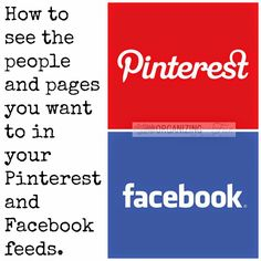 Do you realize that you don't actually see the people you want to follow on Pinterest and Facebook? Well, here's how YOU can see them instead of having that decision made for you :: OrganizingMadeFun.com