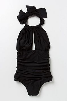 Lenny Niemeyer Ruched Halter Maillot Bathing Suit