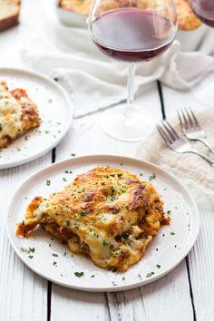 Extra Cheesy Classic Homemade Lasagna.