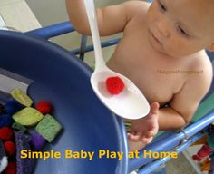 Simple Ideas for Baby Play at Home #1 in the series - no purchase required (most likely) fun ideas for baby with stuff you already have