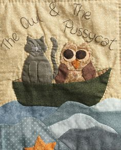 close up: Nursery Rhyme BOM Quilt Pattern by Lenna Green at Stitching Cow