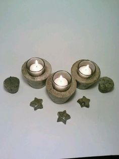 Concrete Candle Holder Tealight Holder by DeerwoodCreekGifts, $10.00