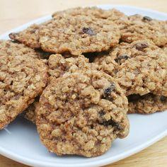 oatmeal cooki, cooki monster, oatmeal raisin nut cookies, raisin pecan, recip food