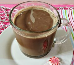 Peppermint Mocha Latte - A hot coffee made with cocoa powder, non-fat milk and peppermint extract.