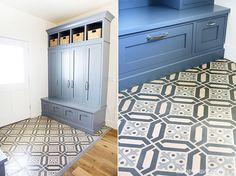 cement tiles, mudroom, floor, entri, mud room