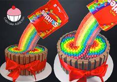 Skittles and Kit Kat Cake  Skittles https://www.candy.com/skittles_c_2082.html  Kit Kat https://www.candy.com/search.asp?q=kit+kat&x=0&y=0