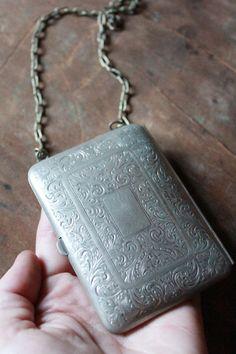 Antique Victorian German Silver compact purse