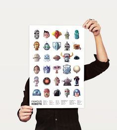 Poster featuring famous robots. Will it kill you? No. It's a poster, not actual robots.