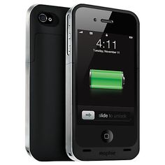 Buy Mophie Juice Pack Air, iPhone 4/s Case with Rechargeable Battery, Black Online at johnlewis.com