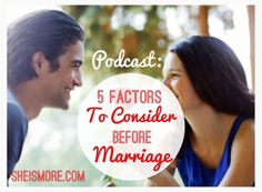 Kris and I believe that the best time to prepare for marriage is before you have one. If you're in a relationship now, see how these check out. If you're single, use these as a great guideline when considering who is a wise person to invest your heart in.