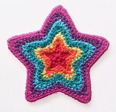 Growing Star #crochet free pattern, crochet star, stars, dutch, grow star, star crochet, crochet patterns, ravelry, van essen