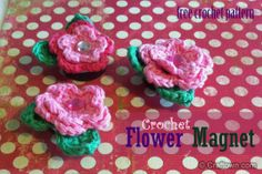 Crochet Flower Magnet freebie pattern, thanks so for this sweetie xox