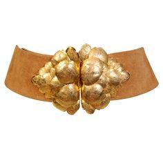 Vintage Christian Dior Golden Leaf Belt #BECCA #WishLists — Kerry Cole, Style Director