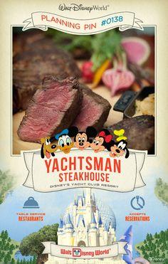 Walt Disney World Planning Pins: Yachtsman Steakhouse
