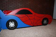 Spider-man Car Bed~ Let's follow each other and share all the great interesting stuff we all love.~~ Christy Tusing Borgeld