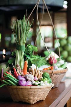 Starting with a trip to a local market to pick up fresh ingredients and ending with a traditional Thai feast, @Four Seasons Resort Chiang Mai  cooking classes are an experience for every epicurean's bucket list.