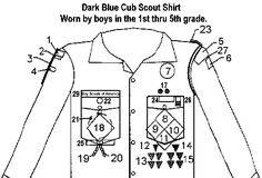 Uniform Shirt Diagram as well 130111876709949940 furthermore BGVhZGVyLXVuaWZvcm0tc2NvdXQtcGF0Y2gtcGxhY2VtZW50 moreover Any in addition Scout Badges. on uniform badge placement cub scout
