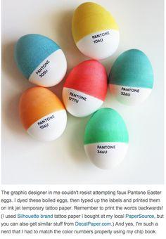 Pantone Eggs!