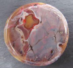 Cream stone effect cabochon SRA lampwork *kitzbitz*