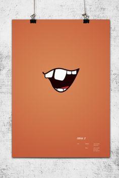 Minimalistic Pixar Poster Series  cars 2