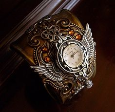 steampunk watch and leather band