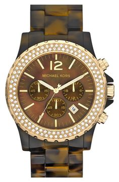 Michael Kors 'Madison' Crystal Bezel Watch available at #Nordstrom