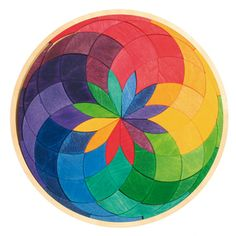 Circle Coloured Spiral Puzzle by Naughts & Crosses