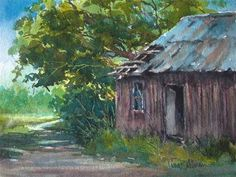 """""""Door's Open"""" - 6x8 Watercolor.  Only 2 days left to place your bid! Original Fine Art for Sale - © by Tina Bohlman"""