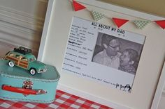 All about my Dad - printable