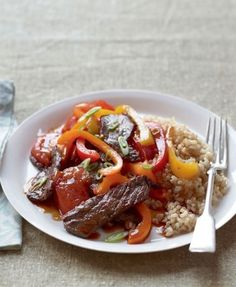 Beef  & pepper stir-fry: http://www.goodhousekeeping.co.za/en/recipes/beef-pepper-stir-fry/