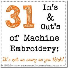 Day 2 ::Machine Embroidery Formats - The Seasoned Homemaker
