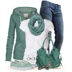 """""""Hoodies, Jeans and sneakers."""" by tufootballmom on Polyvore"""