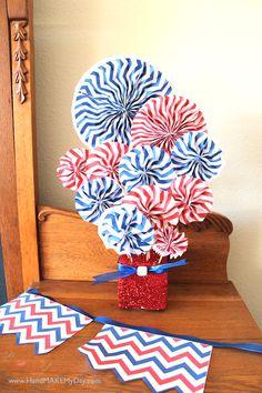 4th of July chevron pattern crafts