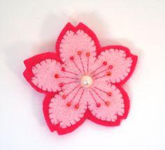flower pin flower pins, felt flowers