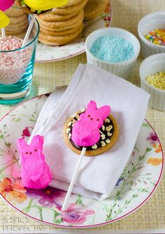 Easter Cookies: Smores Cookie Pops! #easter #cookies #smores #spring