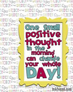 positive thoughts, posit thought