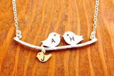 Mom Necklace  mother necklace new parents necklace by MegusAttic, $35.00