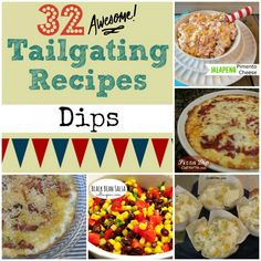 32 Awesome Tailgating Recipes Dips   #Tailgaiting 101 #fall #favoriterecipes We get you to the game for all of the food and action. #travel experts. 800-444-3078. #football2013 #ncaafootball #nflfootball