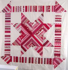 String Star Quilt.  Pieced on muslin foundation.  Great use of scarps. Peace, Robert from nancysfabrics.com