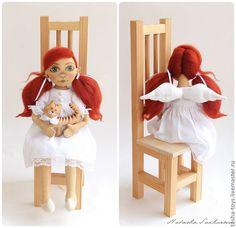 Коллекционные куклы ручной работы. Ярмарка Мастеров - ручная работа Ангел с кошкой.. Handmade.