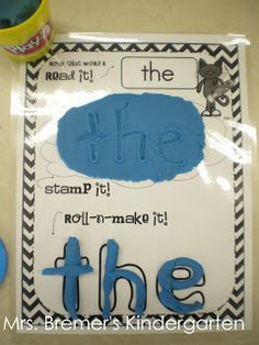 Word Recognition pin #2 - Sight word activity, the students use play dough to stamp out the letter and mold the letter after reading the letter.