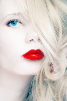 red lipped beauty special is the focus on the lips instead of the eyes