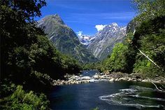 New Zealand...to see the fjords, mountains, water, and sheep!