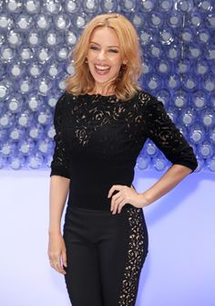 Kylie Minogue is ready to quench her thirst at a Glaceau Smartwater launch party on Aug. 28 in London