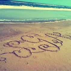 Monograms on the beach