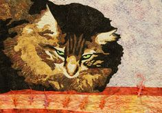 """Mine"" by Mary C. Bartrop.   2014 Art Quilt Exhibit at Zanesville Museum (Ohio)"