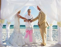 panama city beach sand ceremony by princess wedding co