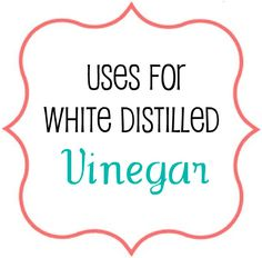 50 uses for vinegar. The nectar of cleaning agents!